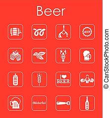 Set of beer simple icons