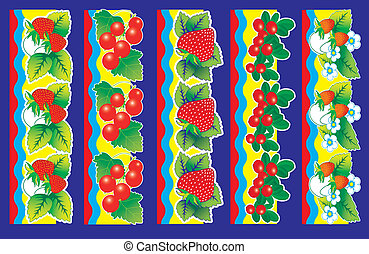 Set of berries.