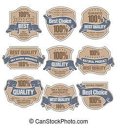 Best Quality Labels - Set of Best Quality Labels eps 10