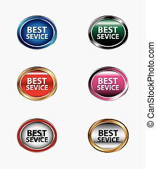 Set of best service button