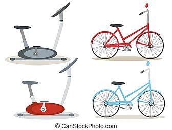 Set of bicycles