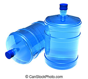 Set of big bottles of water