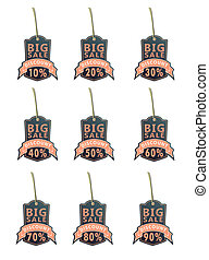 set of big sale labels01 black
