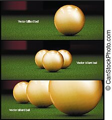 billiards banner for Poster vector Design