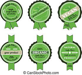 Set of bio badges