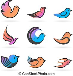 Set of Birds.Vector illustration