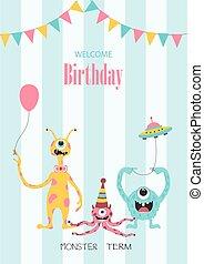 Set of birthday cards