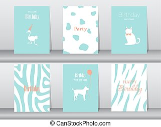 Set of birthday cards