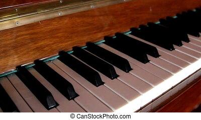 Set of black and white piano keys