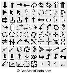 set of black arrows