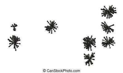Set of black blobs or ink splashes.