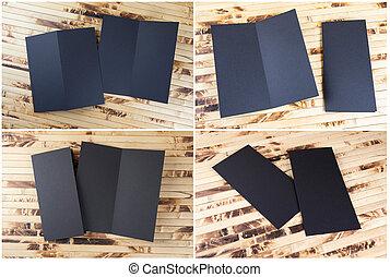 Set of black booklets