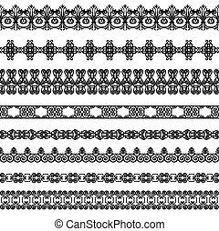Set of black borders