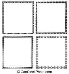 Set of black frames