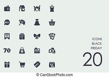 Set of Black Friday icons