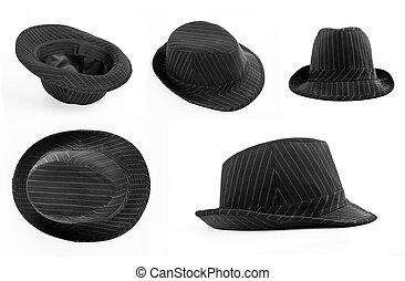 Set of black hats