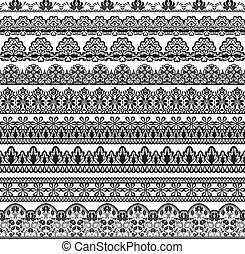 black lace borders