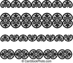 Set of black lace