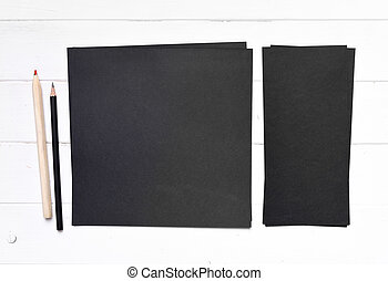 set of black paper