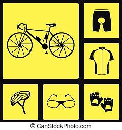 Six bike icons