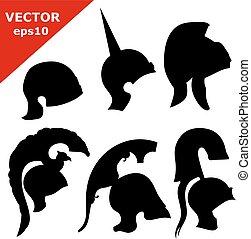 Set of black silhouettes