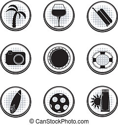 Set of black vector icons. EPS10