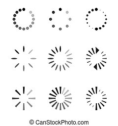 Set of black vector refresh and recycling arrows for web. COLLECTION OF ICONS.