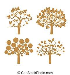 Set of Black vector Trees