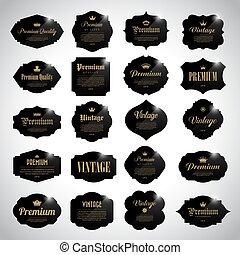 Set of  black vintage  frame