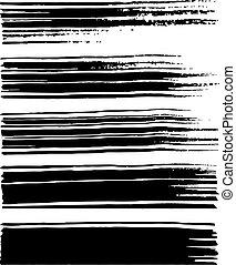 black watercolor brushes.