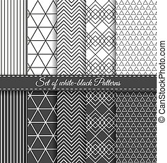 Set of black white Pattern2