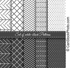 Set of black white Pattern4