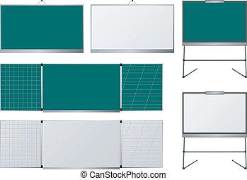 set of blackboards