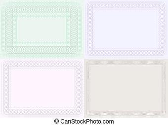 Blank Certificate Backgrounds - Set of Blank Certificate ...