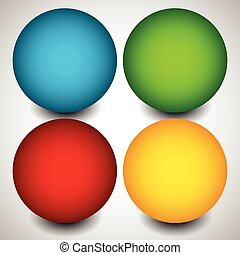 Set of blank circles with space. vector elements.