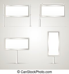 Set of blank City Light vector illustrations