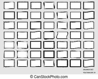 Set Of Blank Frames. Vector EPS 10.