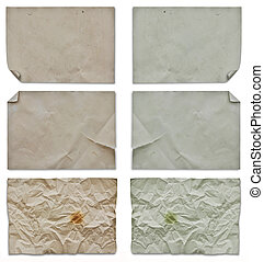 set of blank old papers