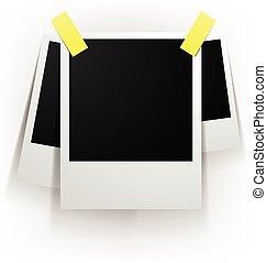 set of blank Polaroid images