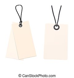 Set of Blank price tags. Vector illustration
