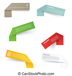 Set of blank rectangle labels with acute corners