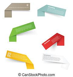 Set of blank rectangle labels. acute corners - Set of blank...
