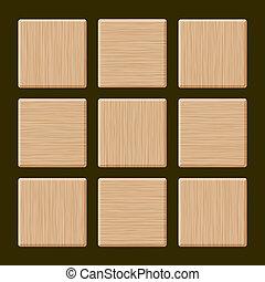 Set of Blank Wood Box