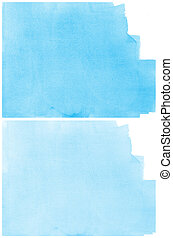 Set Of blue Abstract watercolor