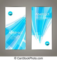 Set of blue lines and geometric banners for modern design