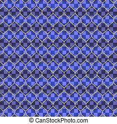 Set of blue shining garland lights