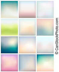 Set of blurred abstract backgrounds for Your design. Vector
