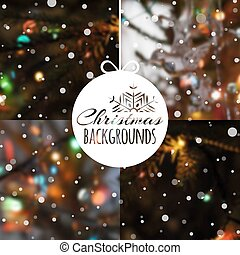 Set of blurred vector Christmas backgrounds.