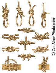 boating knots - set of boating knots
