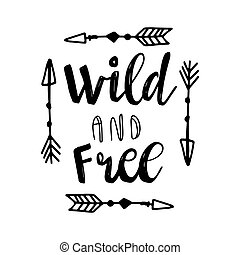 Boho Style Lettering quote - Set of Boho Style Lettering...